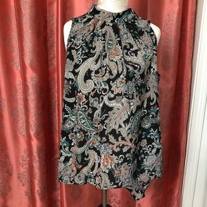 Sami and Jo black Paisley blouse